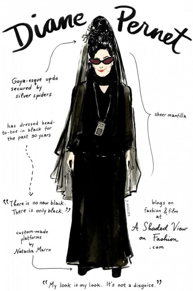 Иллюстрации икон моды от Джоаны Авильес. Изображение № 6.