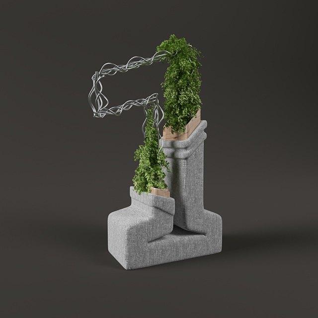 Дизайнер создал абстрактные объекты на основе цифр. Изображение № 2.