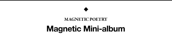 Премьера: Magnetic Poetry «Magnetic Mini-album». Изображение № 1.