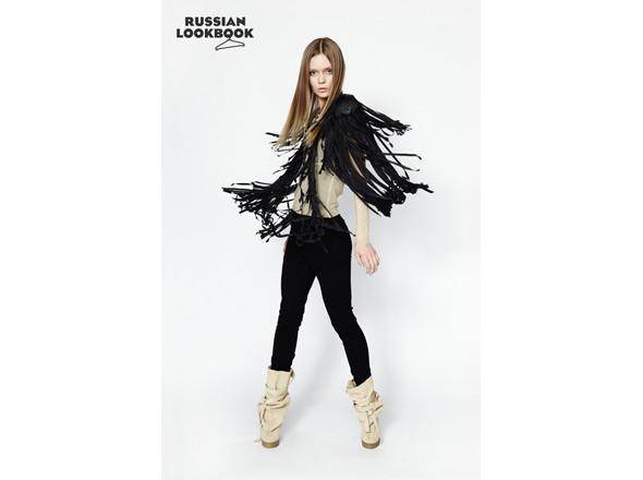 Кофта Oxanastakhova, брюки Sofia Zharova, сапоги X'U, футболка Case. Изображение № 20.