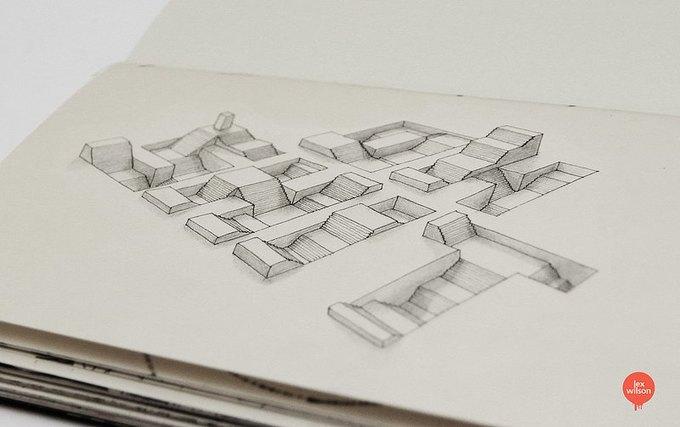 Иллюстратор рисует трёхмерные шрифты . Изображение № 3.