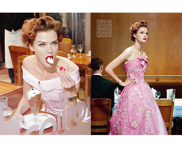 Vogue Italia, март 2011, фотограф Майкл Олдридж. Изображение № 59.