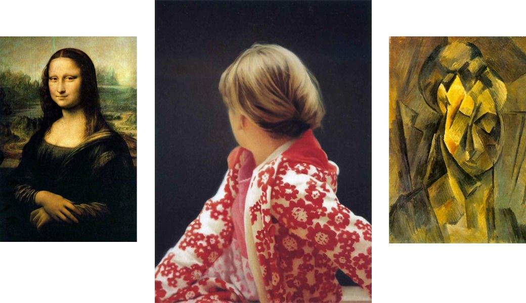 Мона Лиза, Леонардо да Винчи, 1503-198; Бетти, Герхард Рихтер, 1988; Голова женщины, Пабло Пикассо, 1909. Изображение № 4.