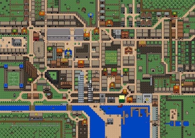 Художник представил карту английского города в духе The Legend of Zelda. Изображение № 1.
