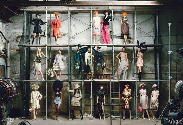 Превью съёмки: Марк Джейкобс и модели для Vogue. Изображение № 2.