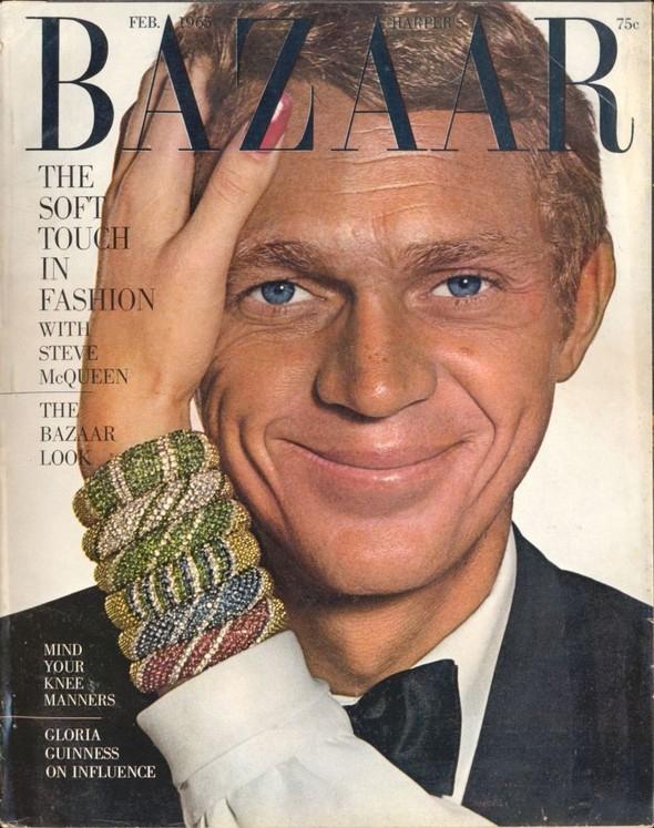 Архивная съёмка: Джин Шримптон и Стив Маккуин для Harper's Bazaar. Изображение № 1.