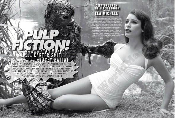 Съёмка: Актрисы из «Хора» и «Американской Истории Ужасов» для Elle. Изображение № 1.