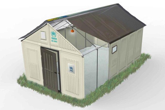 IKEA спроектировала дома на солнечных батареях для беженцев  . Изображение № 1.