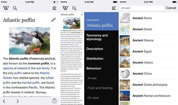 iOS-приложение Wikipedia перезапустилось с новым дизайном. Изображение № 1.