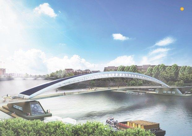 Выложены 74 проекта нового моста через Темзу. Изображение № 68.