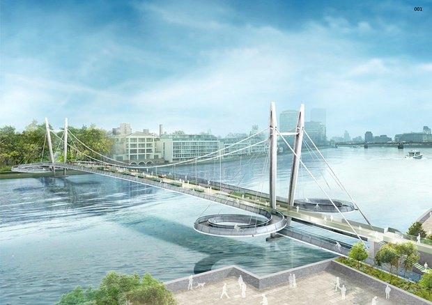 Выложены 74 проекта нового моста через Темзу. Изображение № 45.