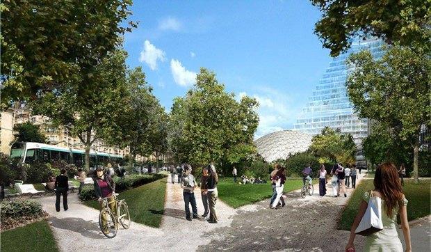 В Париже согласились строить небоскрёб-треугольник. Изображение № 10.