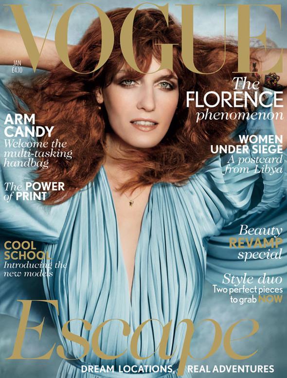 Обложка: Флоренс Уэлш для британского Vogue. Изображение № 1.