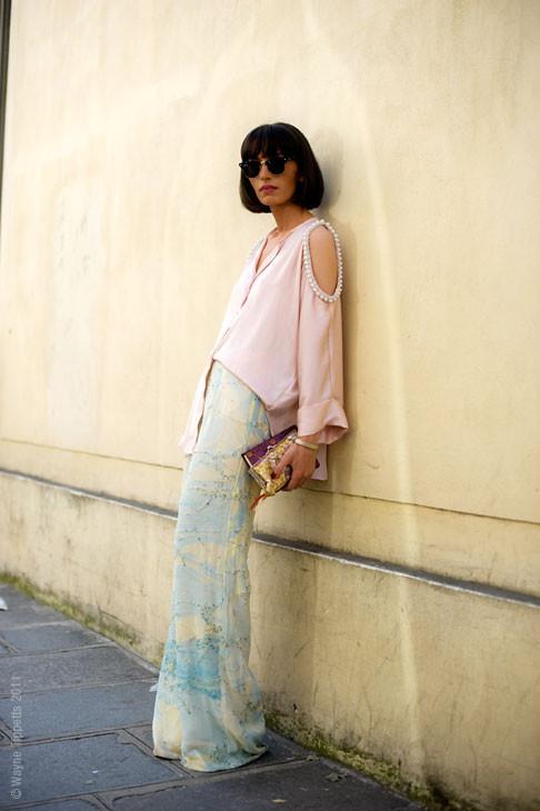 Уличный стиль на Неделе высокой моды в Париже. Изображение № 129.