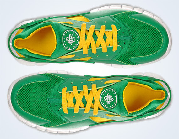 Nike Huarache Free 2012 – Court Green – White – Tour Yellow. Изображение № 1.