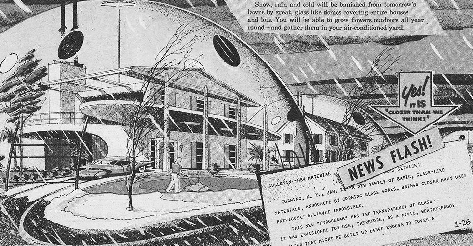 Как в XX веке представляли себе города будущего. Изображение № 9.