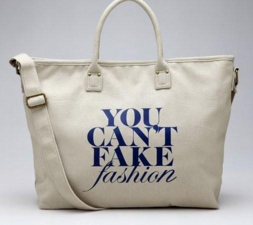Исходная сумка You Can't Fake Fashion. Изображение № 1.