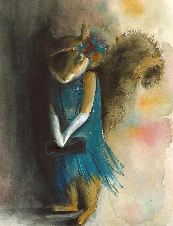 Изображение 40. Amber Alexander - животные, сияющие акварелью.. Изображение № 39.