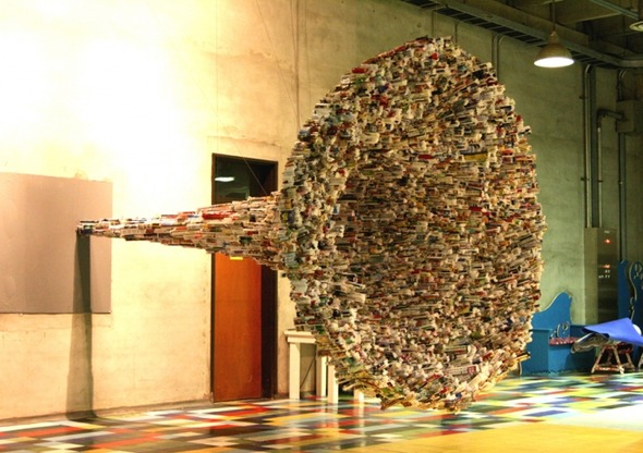 Вторая жизнь для тысячи журналов в скульптурах Юн-Ву Чой. Изображение № 7.