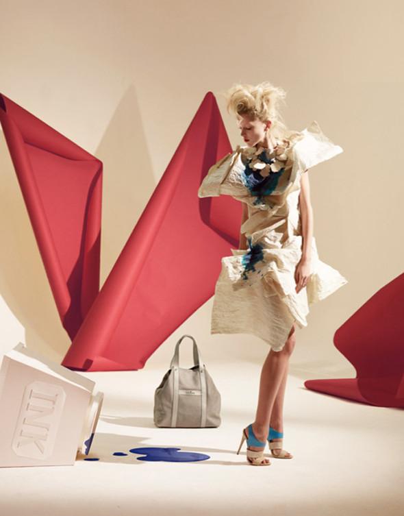 Платья из бумаги: Мэтью Броди для журнала Madame. Изображение № 7.