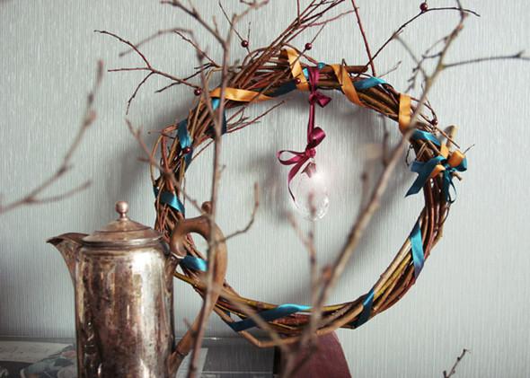 Рождественский венок из ивовых прутьев. Изображение № 2.