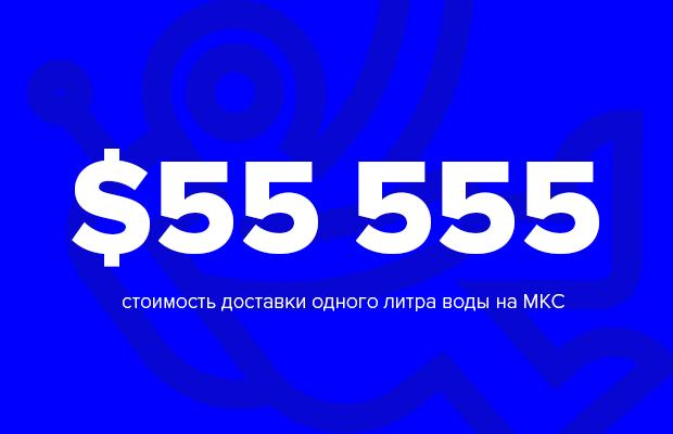 Цифра дня: цена литра воды в космосе. Изображение № 1.