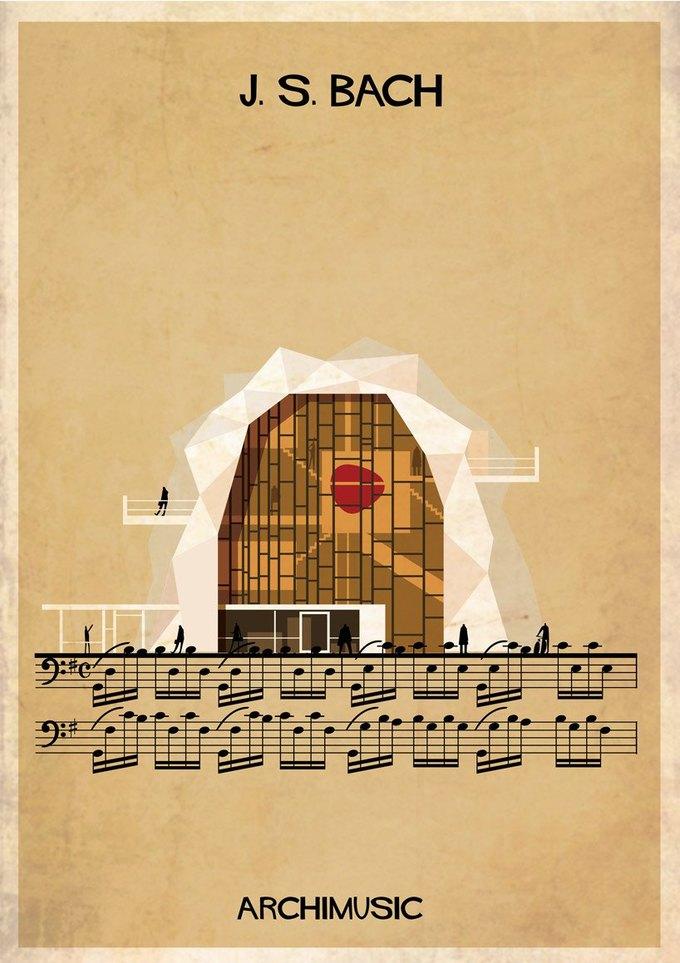 Испанский архитектор превратила песни в здания для новой серии плакатов . Изображение № 21.