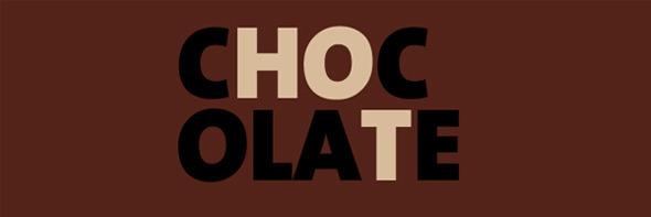 День шоколада. Вкусные шоколадные логотипы. Изображение № 16.