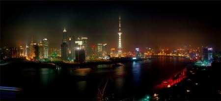 Мегаполисы ночью Гонконг, Дубаи, Нью-Йорк, Шанхай. Изображение № 19.