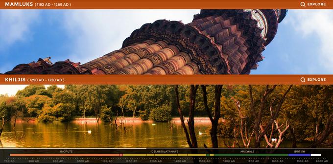 Дизайнер создал интерактивный таймлайн города Дели. Изображение № 2.