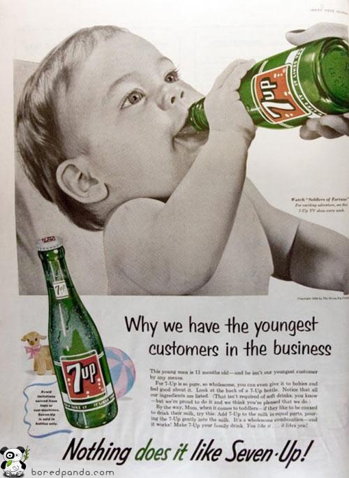 Винтажная реклама, которая бы сегодня оказалась под запретом. Изображение № 10.