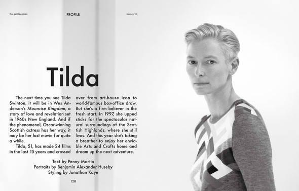 Фэшн-видео с Тильдой Суинтон и еще 10 модных съемок актрисы. Изображение № 11.