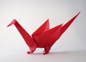 Новогодние драконы в технике оригами. Изображение № 8.