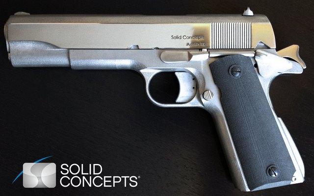 На 3D-принтере напечатали пистолет из металла. Изображение № 1.