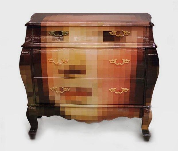 Глитч-мебель: красивые компьютерные ошибки в интерьере. Изображение № 21.