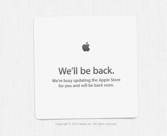 Apple Store закрылся на фоне слухов о запуске новых iPad mini. Изображение № 1.
