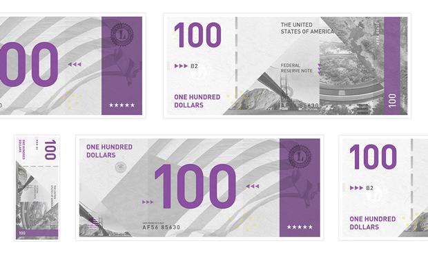 Студент представил редизайн банкнот американского доллара. Изображение № 1.