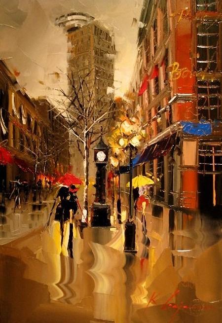 Красные зонтики художника Kal Gajoum. Изображение № 4.