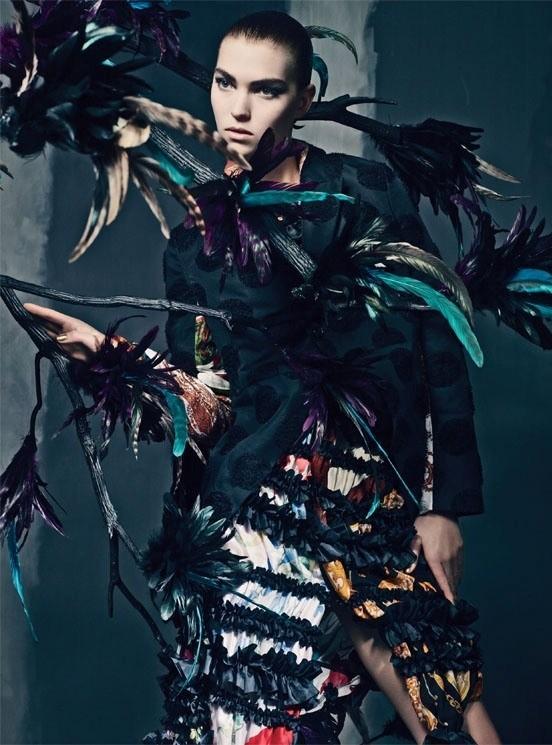 Съемка: Аризона Мьюз и Руби Олдридж для Vogue Италия. Изображение № 8.