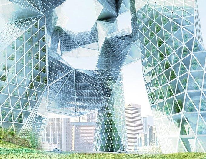 Архитектор предложила идею «объединяющих людей» небоскрёбов. Изображение № 4.