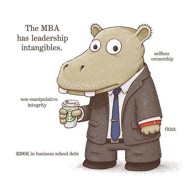 «Магистр делового администрирования владеет неуловимым лидерством». Изображение № 13.