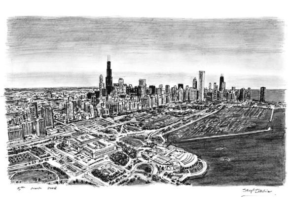 Стивен Вилтшер. Художник рисующий панорамы городов по памяти. Изображение №14.