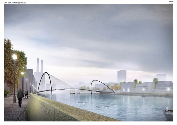 Выложены 74 проекта нового моста через Темзу. Изображение № 33.