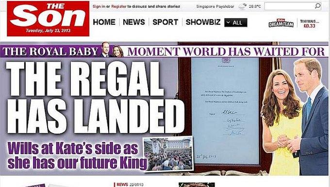 Газета The Sun сменила название на The Son. Изображение № 1.