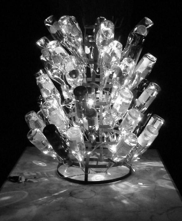 Новогодние украшения из винных бутылок. Изображение № 8.