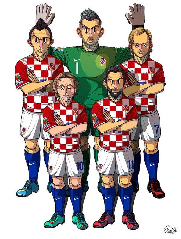 Иллюстратор нарисовал все 32 команды ЧM по футболу . Изображение № 2.