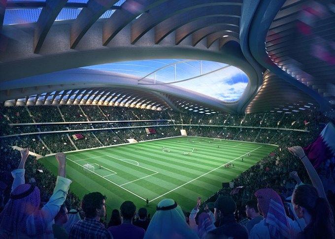 Заха Хадид представила дизайн стадиона в Катаре. Изображение № 3.