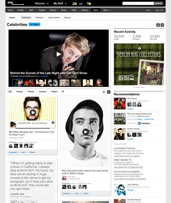 Новый Myspace. Изображение № 4.