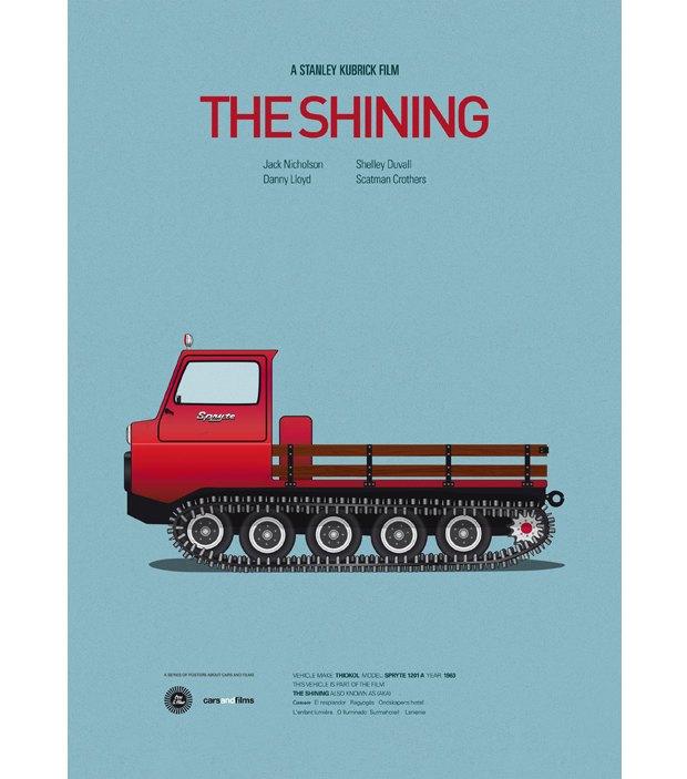 Хиты Голливуда представлены в постерах с культовыми авто . Изображение № 2.