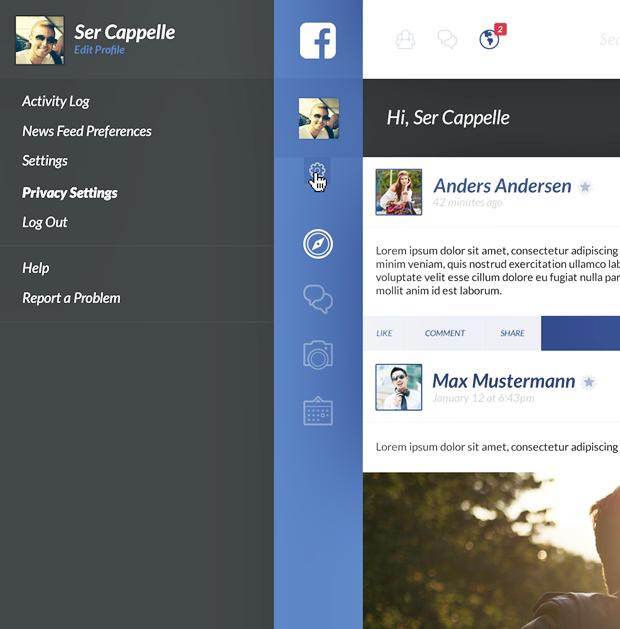 Редизайн дня: полностью новая веб-версия Facebook. Изображение № 1.